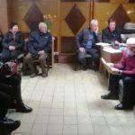 Gyventojų susirinkimas Kapėnų bibliotekoje