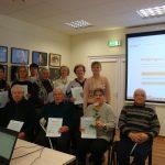 Pirmoji kompiuterinio raštingumo mokymų grupė
