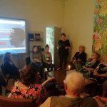 Bibliotekininkė susirinkusiems priminė svarbiausius faktus, susijusius su Lietuvos gyventojų trėmimais