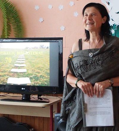 Renginio vedėja mokytoja Valerija Mažonienė