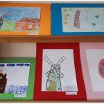 Vaikų piešinių paroda bibliotekoje