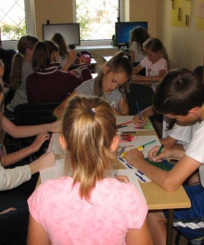 Vaikų piešinių konkursas Reivyčių bibliotekoje