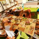 Popieriaus diena. Vaikai kūrė dėlionę