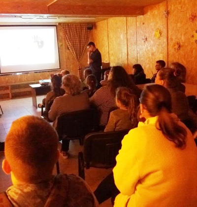 Bugeniškiai klausėsi pasakojimo apie ekspediciją į Kazachstaną
