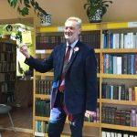 Doc. Juozas Pabrėža Viekšnių bibliotekoje