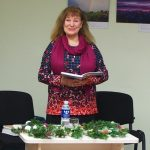 Mažeikių krašto literatų ir menų mėgėjų sambūrio pirmininkė Janina Butnorienė
