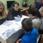 Vaikai skaito ištraukas iš knygų