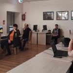 Mokymų dalyviai sausio 15 d. stebėjo tiesioginę interneto transliaciją apie Sodros viešąsias paslaugas