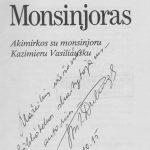 Rašytojo Antano Drilingos autografas