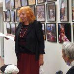 Eiliuotą savo sveikinimą perskaitė Vilhelmina Imbrienė