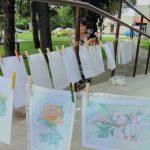 Gėlės piešiniuose