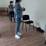 VR akinių užsiėmimo dalyvės iš Mažeikių Pavasario pagrindinės mokyklos