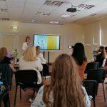 Projektą pristato viešosios bibliotekos direktorė Alina Bernotienė