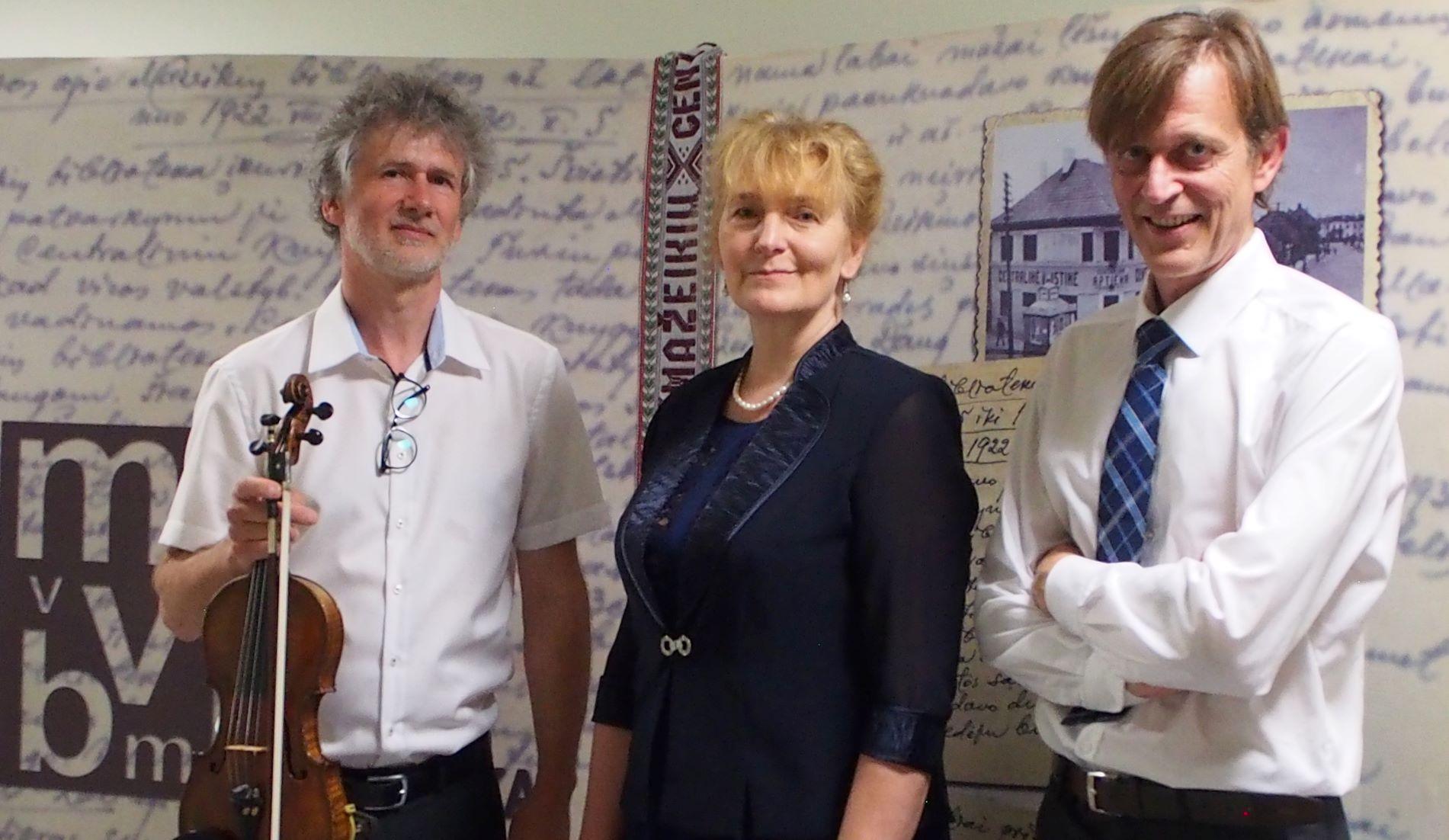 Renginio svečiai: Darius Krapikas, dr. Virginija Paplauskienė, Dainius Svobonas