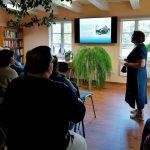 Informaciją apie bibliotekos veiklą pristatė rusų kalbos mokytoja Dalia Margytė