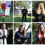 A. Bukonto eilėraščius skaito Sedos Vytauto Mačernio ir Židikų Marijos Pečkauskaitės gimnazijos mokiniai Aistė, Ugnė, Karolis, Ugnė, Violeta, Regina, Augustė.